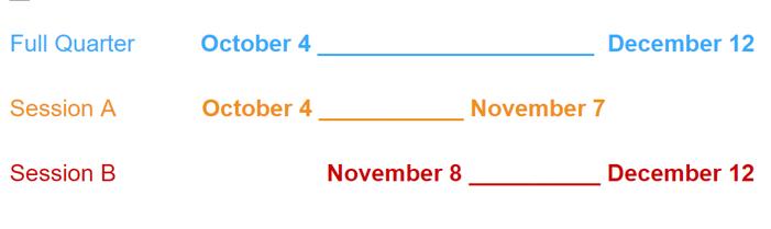 Fall 2021 Dates II